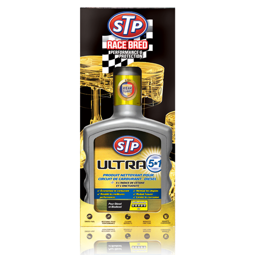 stp ultra 5 in 1 produit nettoyant pour circuit de carburant diesel additifs pour l 39 huile et. Black Bedroom Furniture Sets. Home Design Ideas
